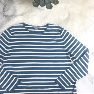 COS Round Neck Striped Longsleeve